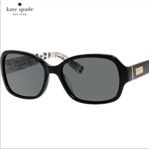 Kate Spade Black Akira Polarized Sunglasses